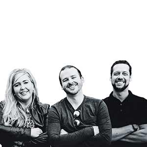 Jennifer Bonine, Co-Founder and CEO,  Rick Faulise, Co-Founder and COO, Andrew Birkholz, Co-Founder and CTO  , PinkLion.ai