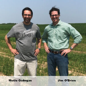 Mutlu Ozdogan, Founder & CEO and Jim O'Brien, Co-Founder, Agrograph