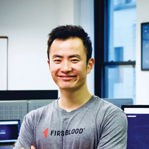 Joe Zhou, CEO, Raj Rajkotia, CTO and Anik Dang, VP of Global Markets, FirstBlood